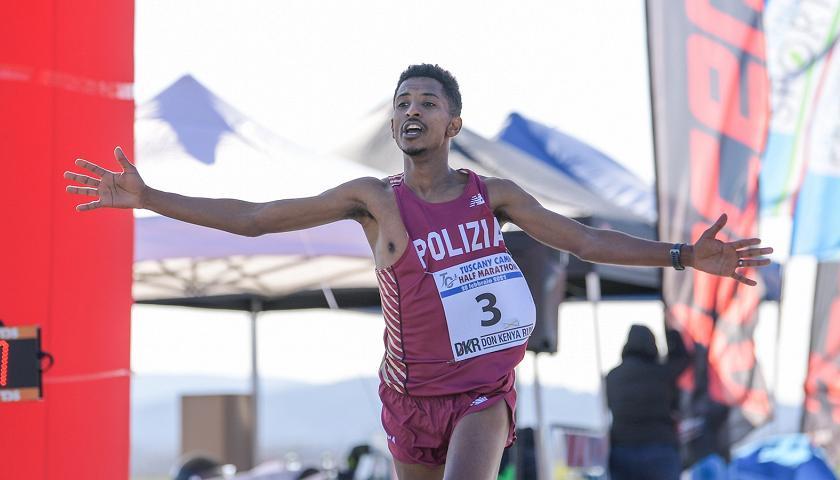 Eyob Faniel stabilisce il record italiano di Mezza Maratona